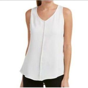Cabi 3076 Domino Mesh Layer Top Size S Black White Sleeveless Blouse Small